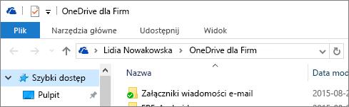 Stary klient komputerowy usługi OneDrive dla Firm