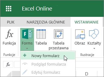Formularze > Nowy formularz