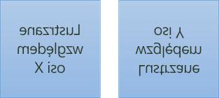 Przykłady tekstu lustrzanego: pierwszy jest obrócony o 180 stopni na osi X, a drugi — o 180 stopni na osi Y