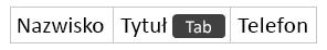 Tworzenie nowej kolumny przez naciśnięcie klawisza Tab