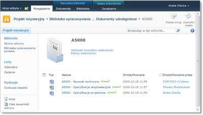 Strona powitalna zestawu dokumentów