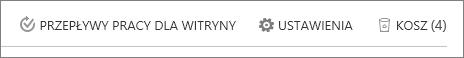 Widok przycisk Kosza Kosz wewnątrz zawartość witryny.
