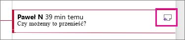 Wyróżniona ikona Odpowiedz na komentarz