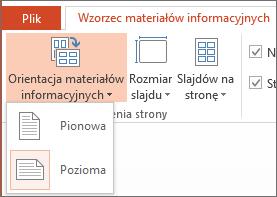 Menu Orientacja materiałów informacyjnych