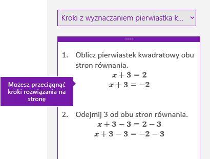 Rozwiązanie kroki w okienku zadań matematyczne