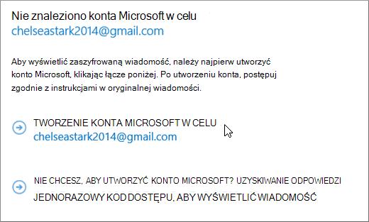 Tworzenie konta Microsoft