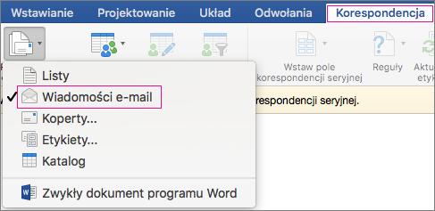 seryjna poczta e-mail