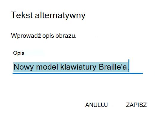 Outlook tekst alternatywny systemu Android.