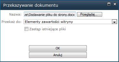 Przekazywanie dokumentu