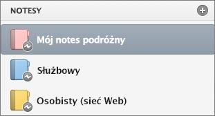 Lista notesów ze stanem offline.