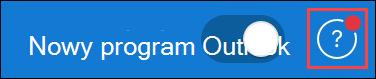 Zrzut ekranu przedstawiający ikonę pomocy, gdy aktualizacja jest obsługiwana