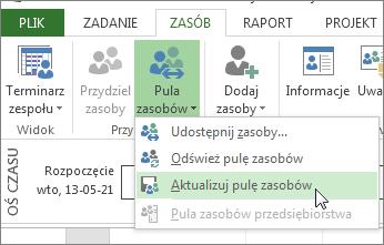 Aktualizowanie puli zasobów po edytowaniu zasobów w pliku współużytkującym