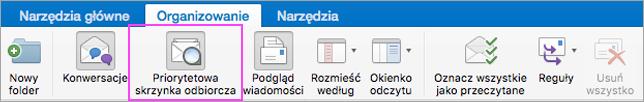 Priorytetowa skrzynka odbiorcza ułatwia utrzymywanie porządku w poczcie e-mail.