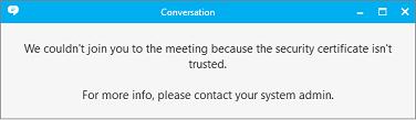 Komunikat o błędzie informujący, że nie można odnaleźć zasady