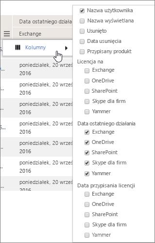 Opcje filtrowania na poziomie użytkowników