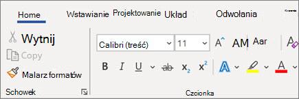 Dodawanie i formatowanie tekstu w programie Word