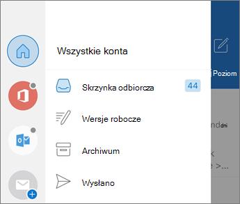 Dodawanie kont w aplikacji Outlook Mobile