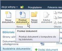 Przekazywanie dokumentów do rozdzielni dokumentów