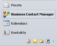 przycisk Menedżer kontaktów biznesowych w okienku nawigacji