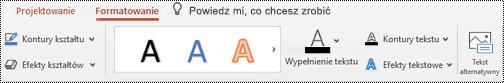 Przycisk tekst alternatywny na Wstążce grafiki SmartArt w PowertPoint dla komputerów Mac.