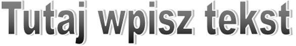 Normalnie sformatowany obiekt WordArt w programie Publisher 2010