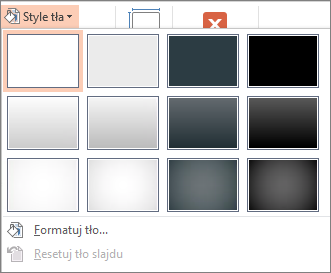 Style tła programu PowerPoint