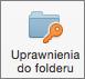 Przycisk Uprawnienia do folderu w programie Outlook 2016 dla komputerów Mac