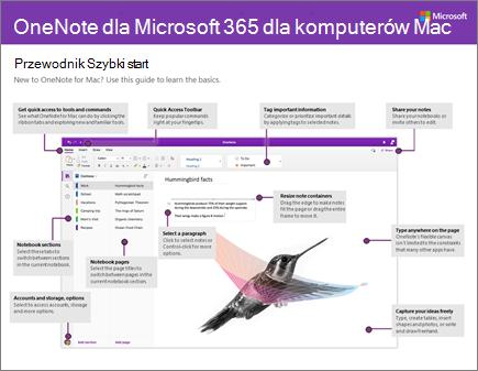 Przewodnik Szybki start dla programu OneNote 2016 dla komputerów Mac