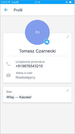 Zrzut ekranu przedstawiający ustawienie stanu aktualizacji