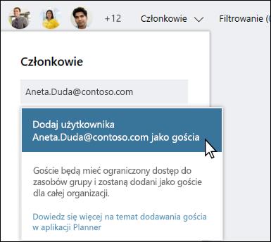 Przechwytywania ekranu: wyświetlanie monitu z pytaniem, czy chcesz dodać użytkownika Gość.