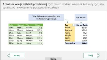 Samouczek dotyczący tabeli przestawnej
