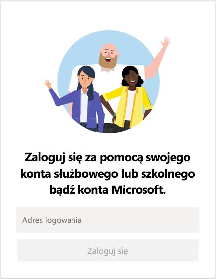 Logowanie się do usługi Microsoft Teams