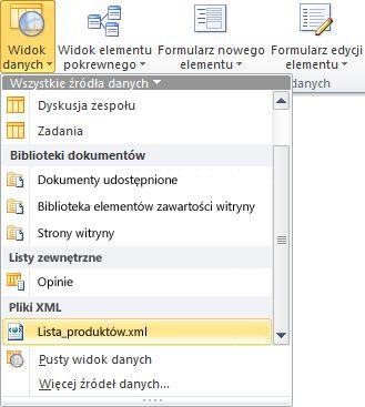 Witryna otwarta w programie SharePoint Designer 2010