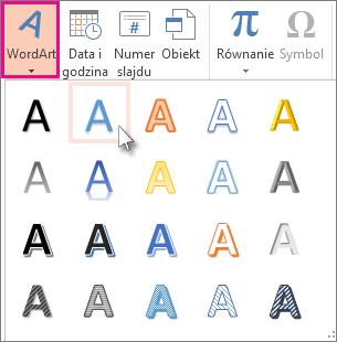 Style tekstu WordArt