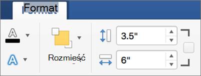 Podaj wartości wysokości i szerokości