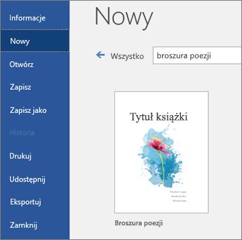 """Szablony wyszukiwania dla """"książeczki poetryowej"""""""