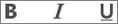 Ikony pogrubienia, podkreślenia i kursywy