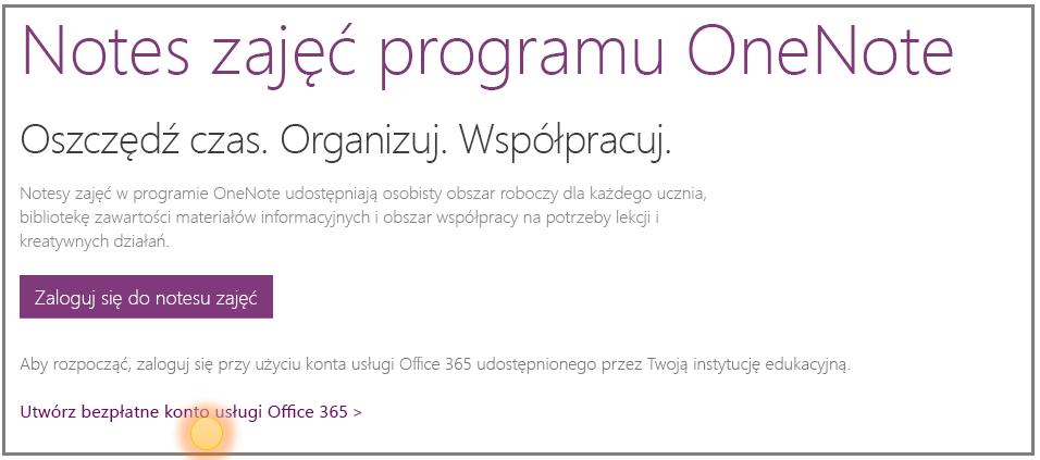 Zrzut ekranu przedstawiający uzyskiwanie bezpłatnego konta usługi Office 365.