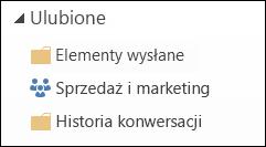 Grupy na liście Ulubione