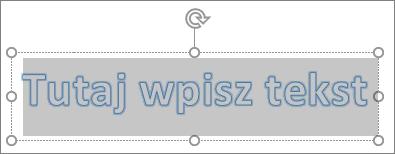 Tekst symbolu zastępczego WordArt