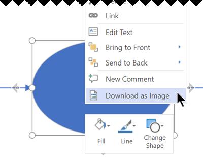 Kliknij prawym przyciskiem myszy zaznaczenie, a następnie wybierz polecenie Pobierz jako obraz.