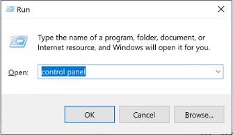 Obraz okna dialogowego uruchamianie w systemie Windows