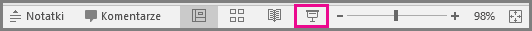 PowerPoint dla komputerów Mac pokazu slajdów ikony na pasku stanu