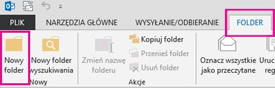 Na karcie Folder kliknij pozycję Nowy folder.