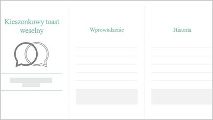 Obraz planera toastu weselnego