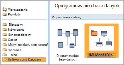 Wybieranie oprogramowania i bazy danych