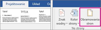Wyróżniona ikona Obramowanie strony na karcie Projektowanie