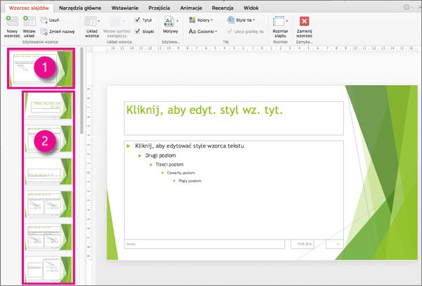 Wzorzec i układy slajdów