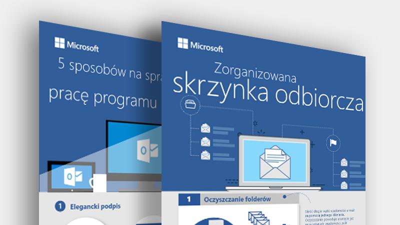 Pobierz te infografiki dotyczące programu Outlook