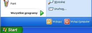 Przycisk Start oraz polecenie Uruchom systemu Windows XP